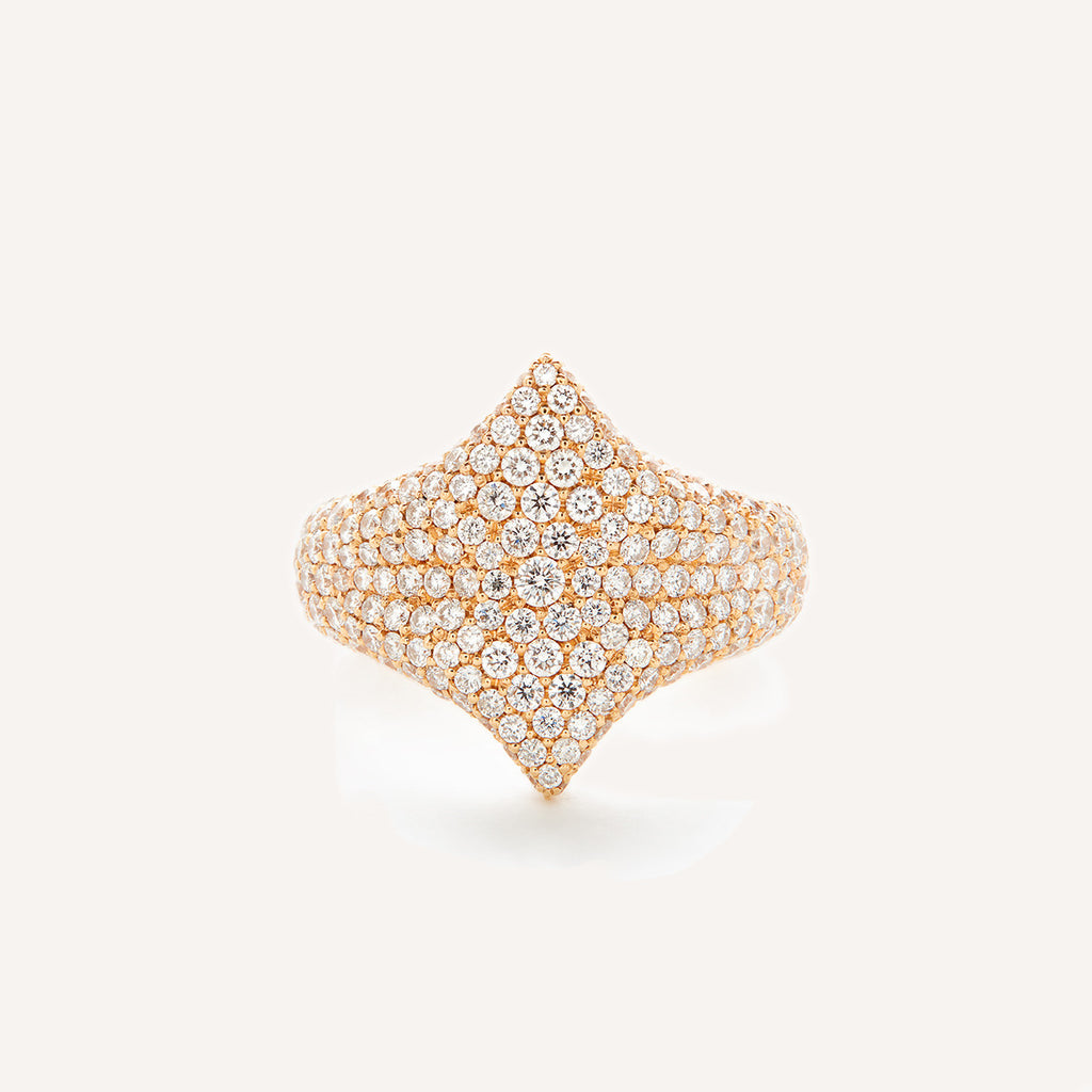 ALL DIAMOND ADINA SIGNET RING