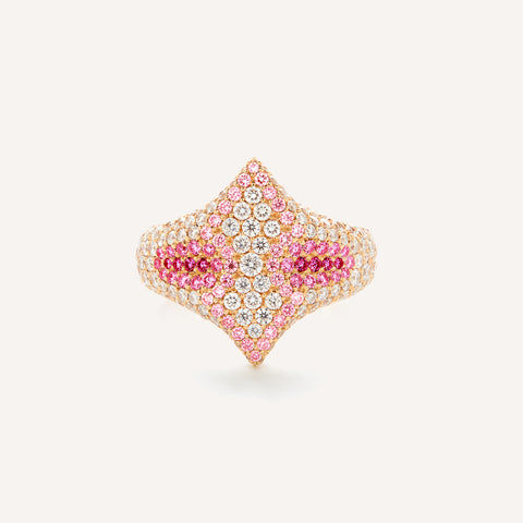 SHADES OF PINK ADINA SIGNET RING
