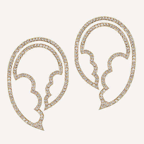 ASYMMETRIC CUT-OUT JASMINE EARRINGS