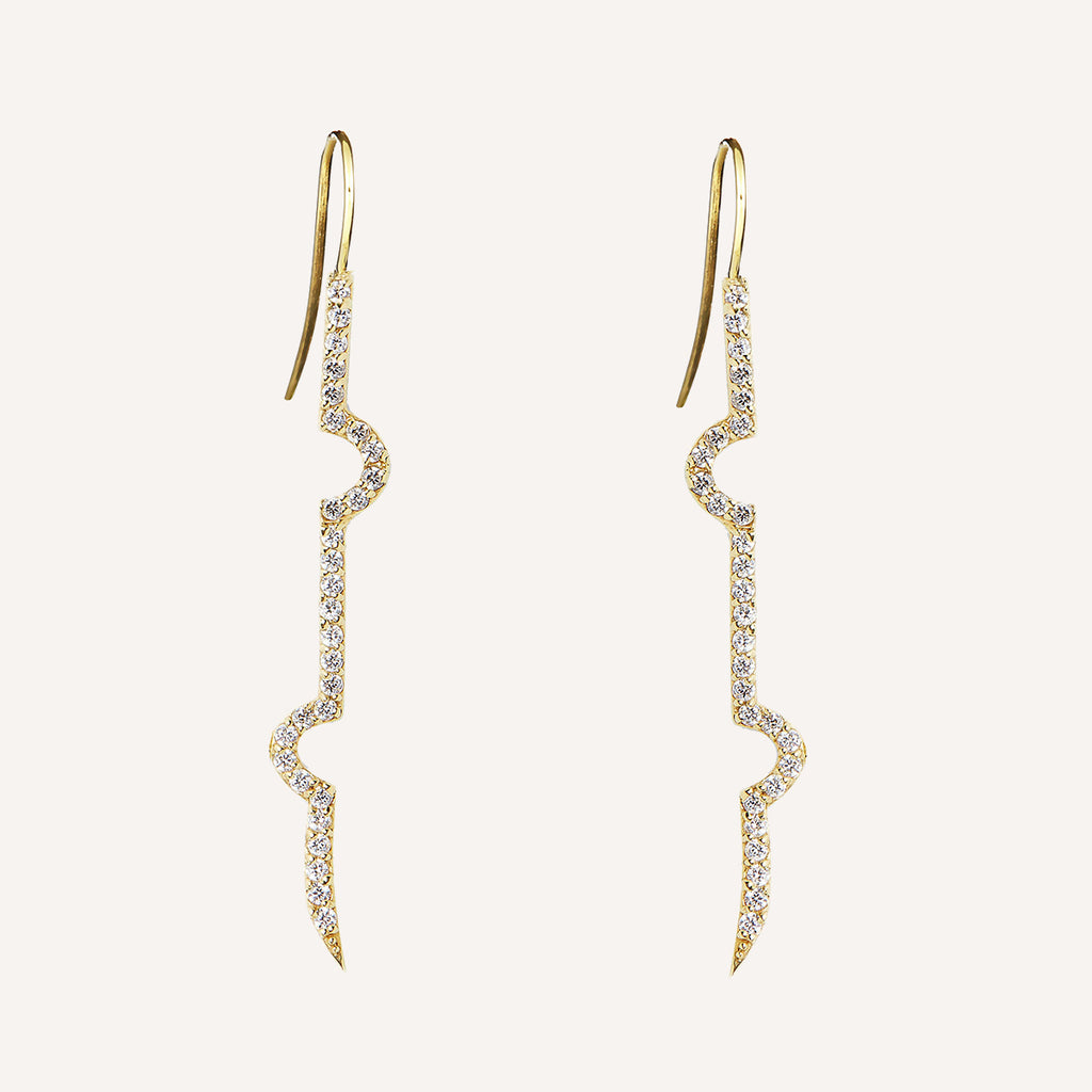 DIAMOND LIRI MATCHSTICK EARRINGS