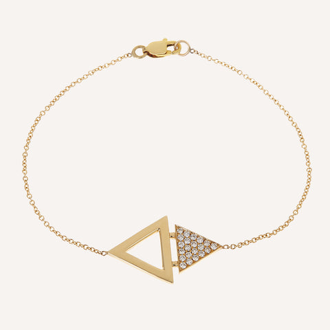 DOUBLE TRIANGLE SINGLE BRACELET
