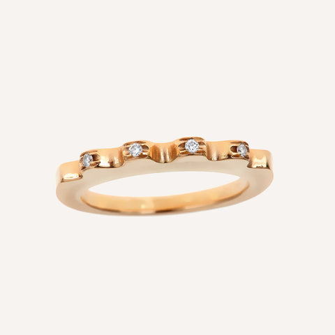 ELLA STACK RING WITH FOUR DIAMONDS