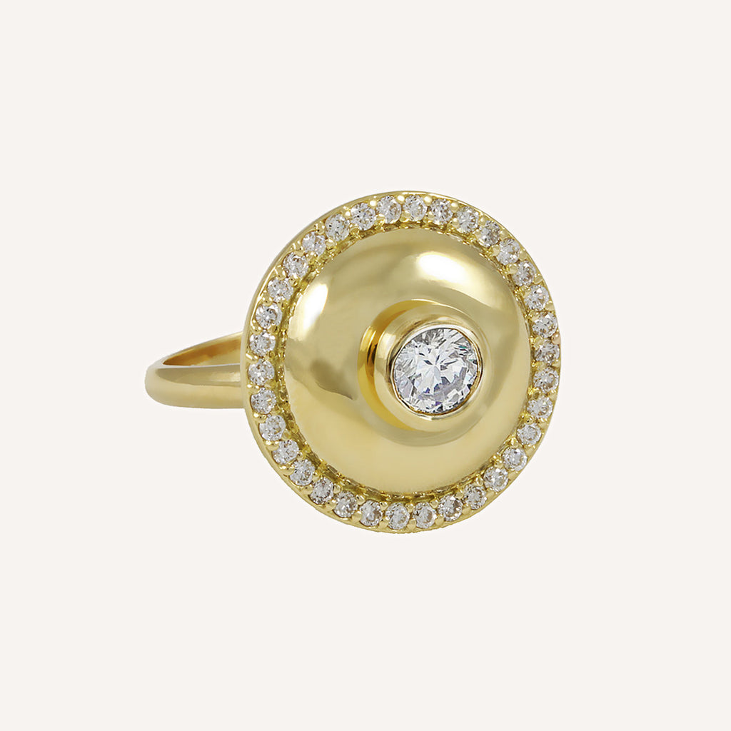 LARGE SINGLE CAP RING