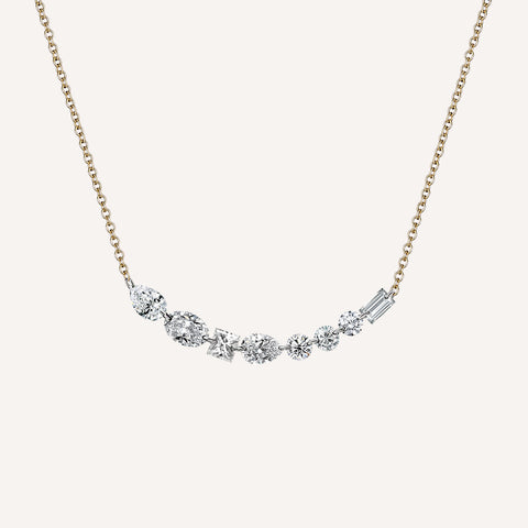 LONG FLOATING DIAMOND NECKLACE