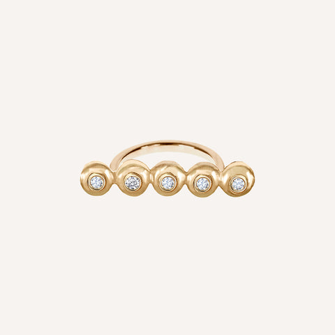 DIAMOND MINI CAP SHORT BAR RING