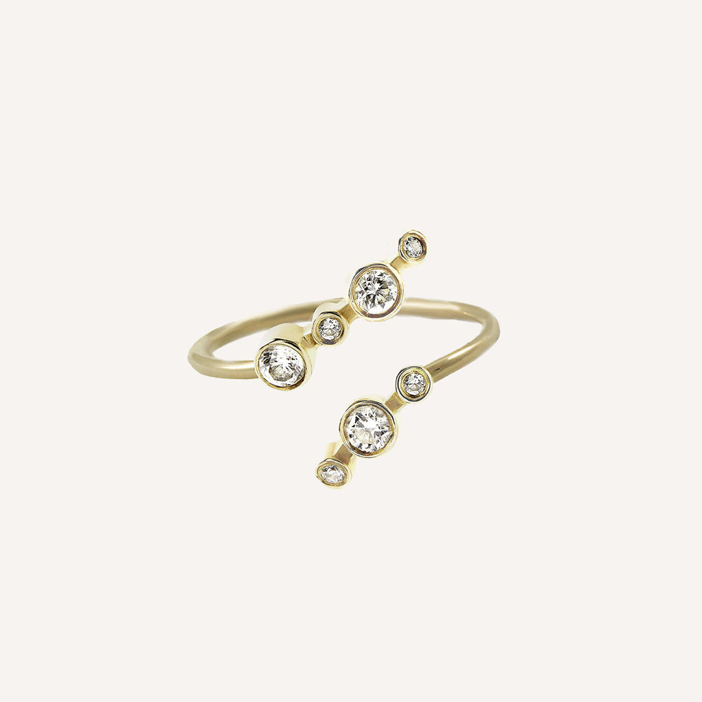 PARTIAL DOT TWIST RING