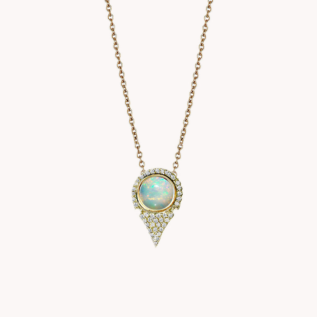 SMALL AZIZA NECKLACE W/ OPAL