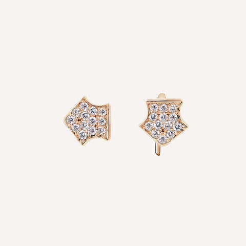 SMALL MAYSA STUD W/ PAVE' DIAMONDS