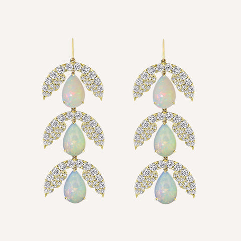 THREE DROP JASMINE EARRINGS