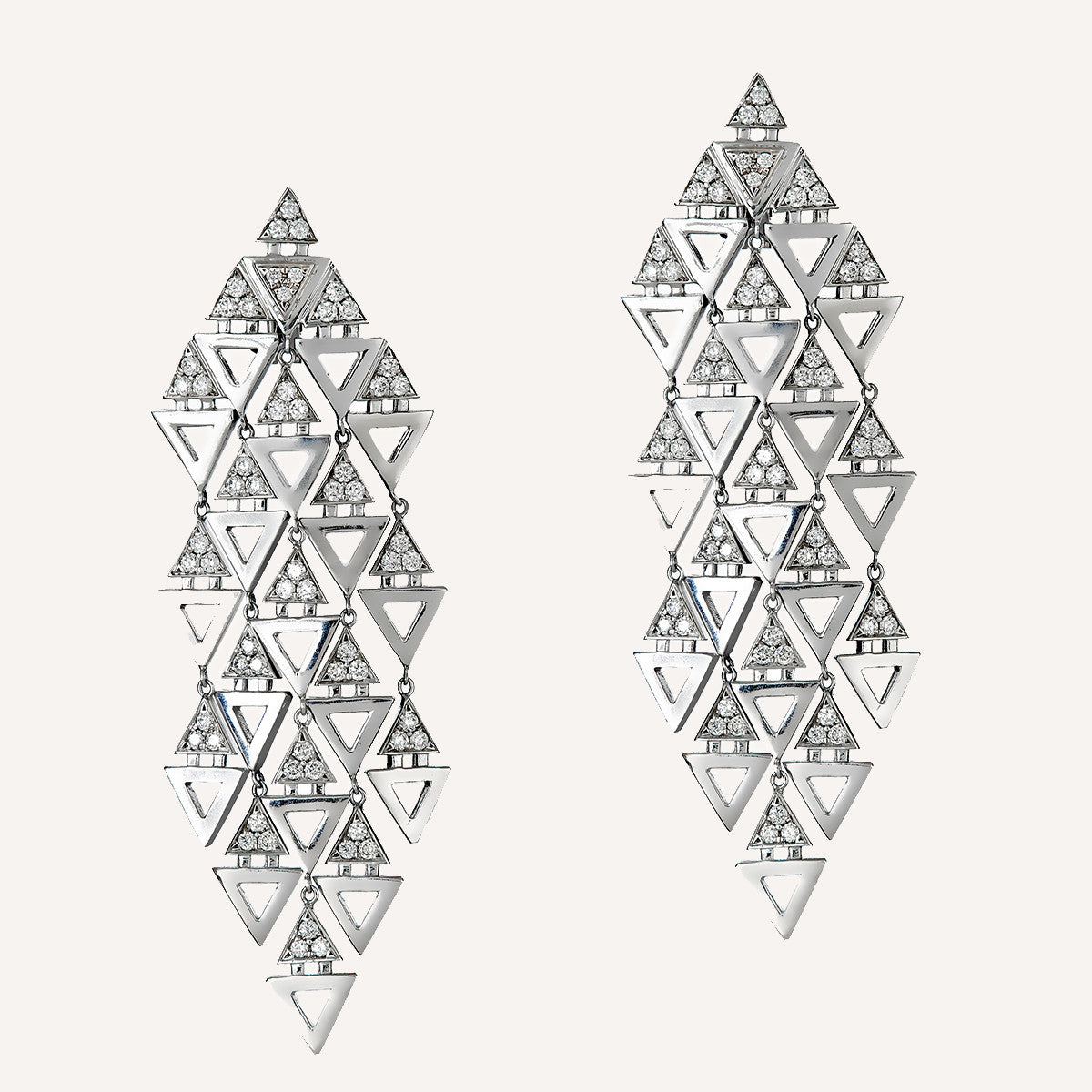 triangle chandelier earrings ilana ariel collections