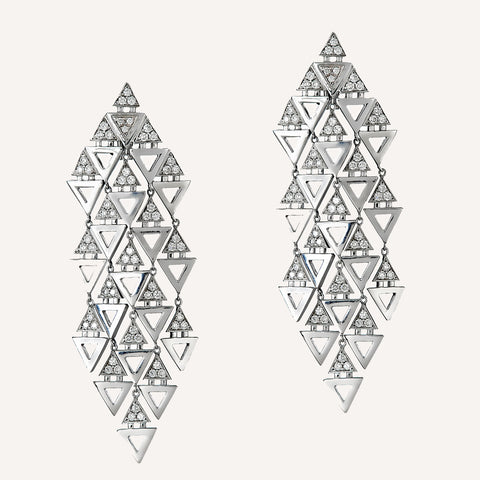 TRIANGLE CHANDELIER EARRINGS