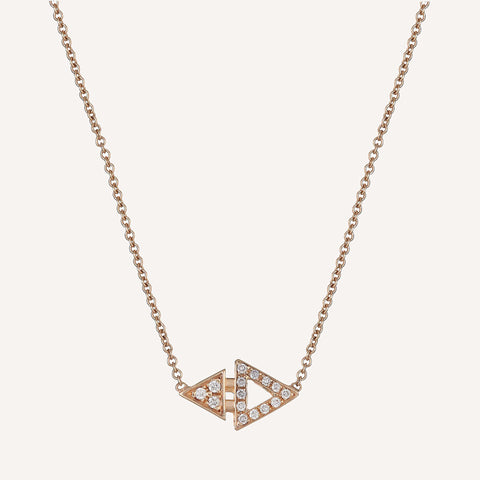 ALL DIAMOND MINI TRIANGLE NECKLACE