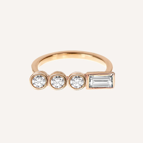 DIAMOND CIRCLE SHORT RING