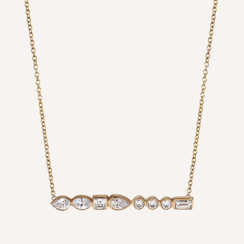 DIAMOND LONG BAR NECKLACE