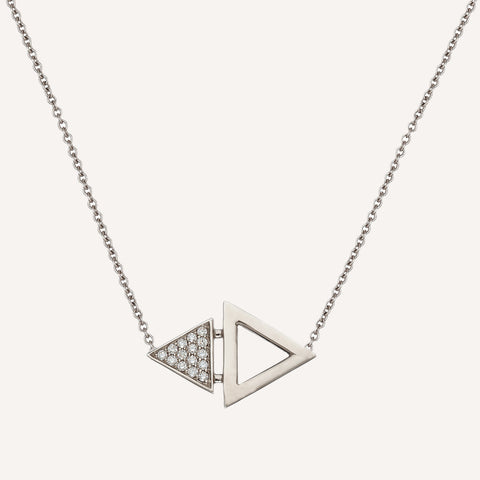 DOUBLE TRIANGLE SINGLE NECKLACE