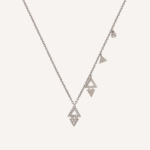 UNEVEN MINI TRIANGLE CHARM NECKLACE