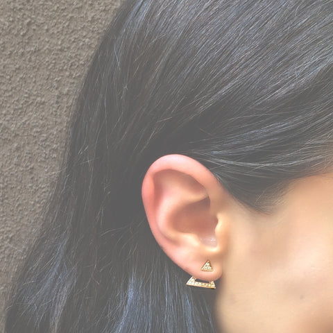 RIGHT SIDE UP TRIANGLE BACK EARRING