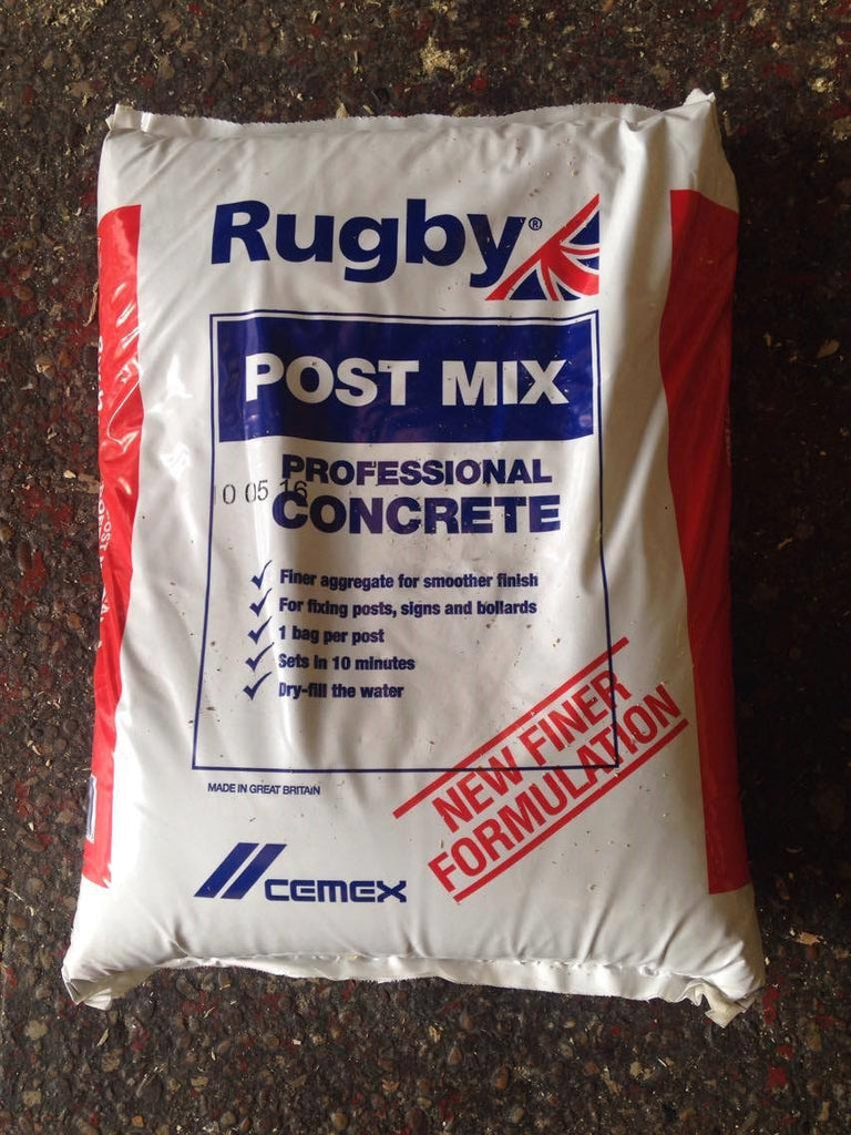 Rugby post mix concrete. Perfect for setting in fence posts. 20kg bags.