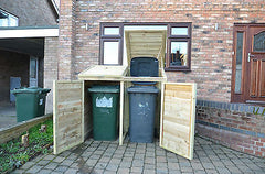 Double Wheelie Bin Tidy, With Recycling Box Option