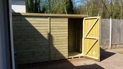 pent tanalised timber garden shed heavy duty outdoor storage