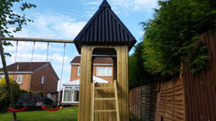 Swing Set with Tower and Slide