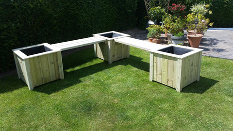 Double Bench Planter