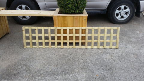 Heavy Duty Pressure Treated Wooden Trellis - Square