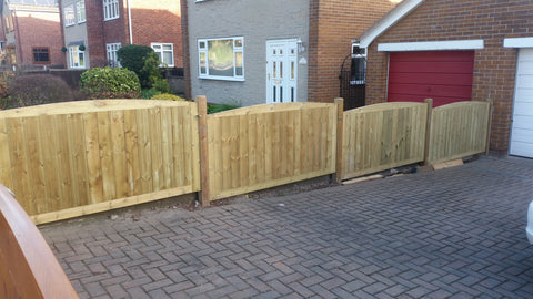 Fence Panels TGV Inlaid - Arched Top