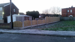 double palisade 6ft fence panels arch arched tops tanalised pressure treated timber