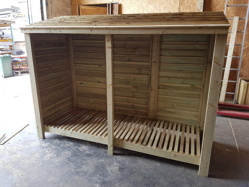 Extra Large Log Store 2400mm (8u0027) Wide