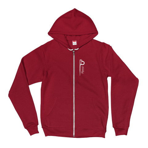 Alpinist Piton Zip Fleece Hoodie <br> [CRANBERRY]