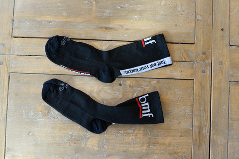 "Mountain Flyer BMF ""Just Eat Your Bacon"" Sock"