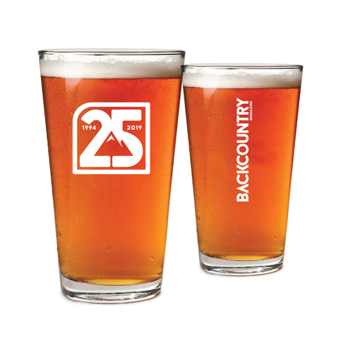 Backcountry 25th Anniversary Pint Glasses (Set of Two)