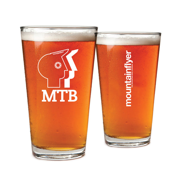 Mountain Flyer MTB Pint Glasses (Set of Two)