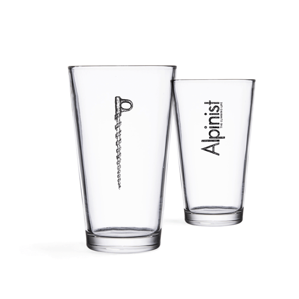 Alpinist Ice Screw Pint Glasses (Set of Two)