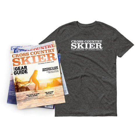 Cross Country Skier Holiday Edition Subscription & T-shirt