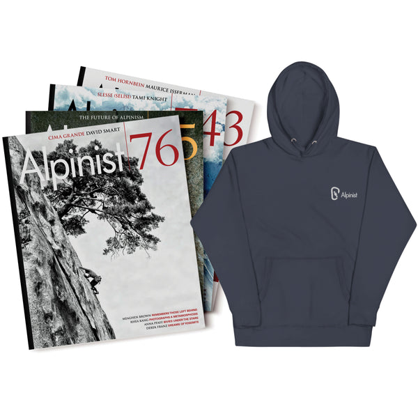 Alpinist Gift Subscription & Embroidered Carabiner Hoodie
