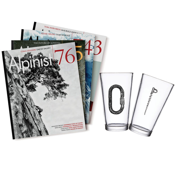 Alpinist Gift Subscription & Pint Glass Set