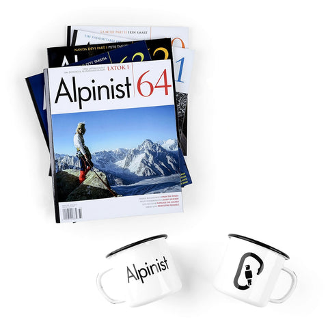 Alpinist 1-Year Subscription & Enamel Mug Set