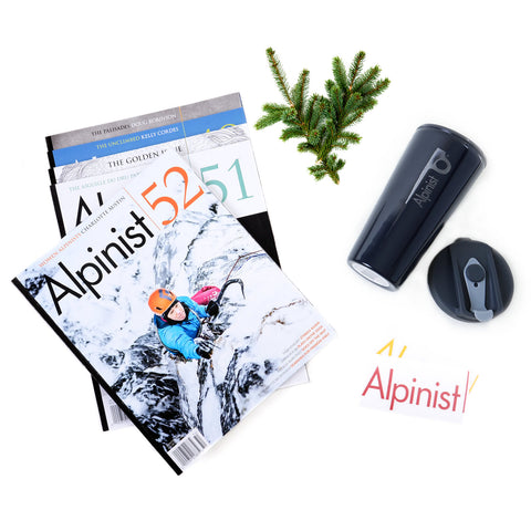 Alpinist Holiday Edition Gift Subscription and 16oz Coffee Tumbler