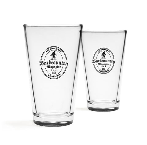 Backcountry 100% Fresh Pint Glasses (Set of Two)