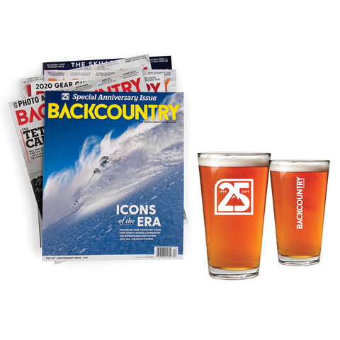 Backcountry Subscription & Pint Glass Set