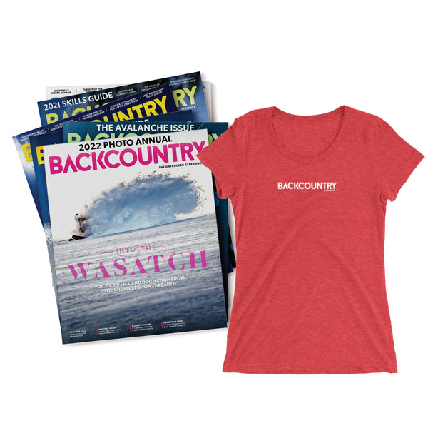 Backcountry Magazine Gift Subscription & Women's T-shirt