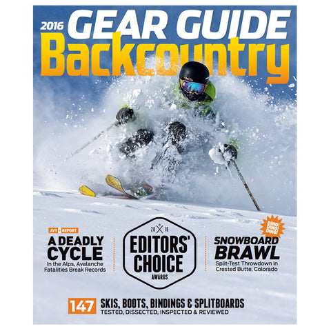 2016 Backcountry Gear Guide PLUS a 1-Year Subscription
