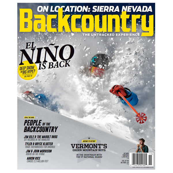 Backcountry November 2015 Issue Cover