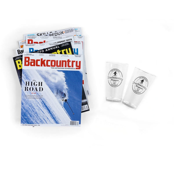 Backcountry Holiday Edition Gift Subscription & Pint Glasses