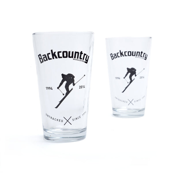 Backcountry 20th Anniversary Pint Glasses (Set of Two)