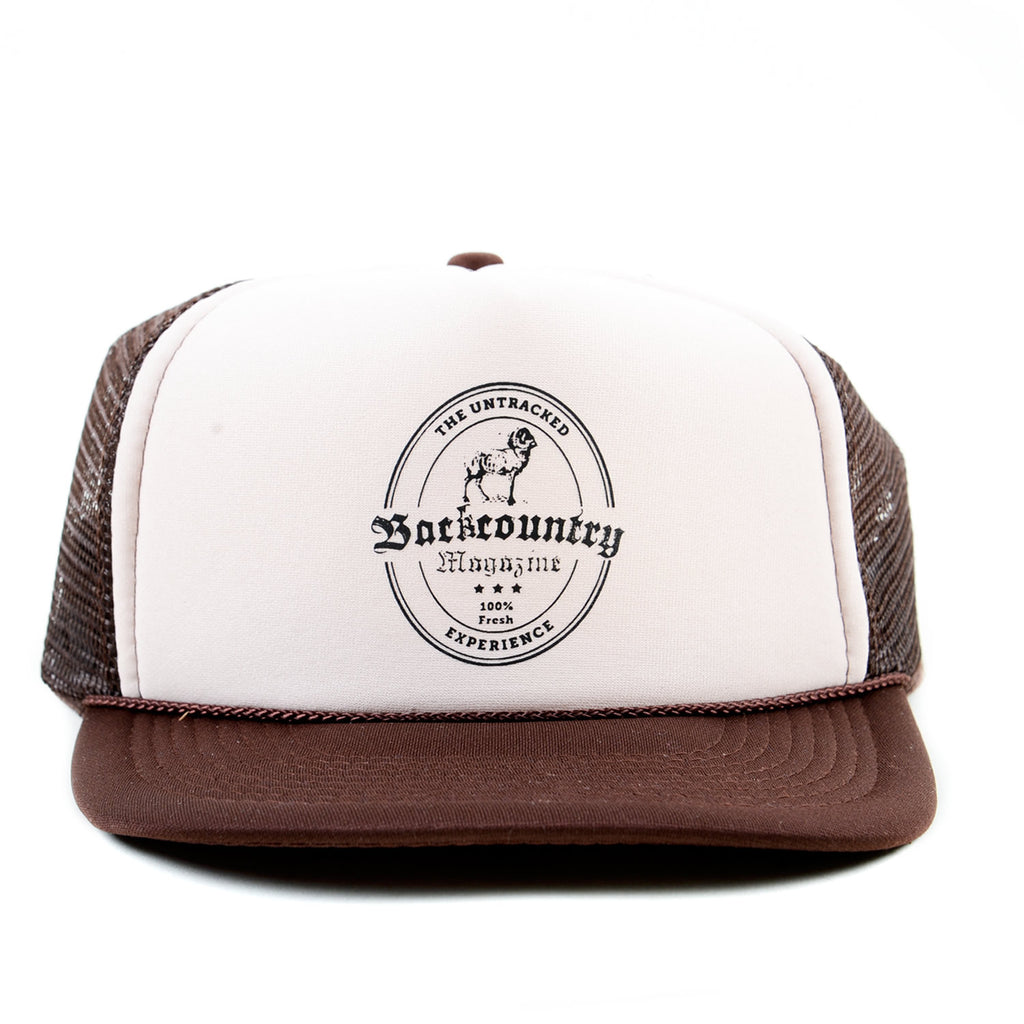 89e0e7e4534 Backcountry Label Trucker Hat – Height of Land Publications