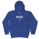 Cross Country Skier Kids Hoodie