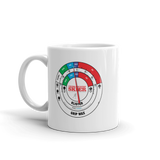 Cross Country Skier Extra Blue Mug